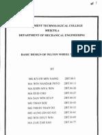 Basic Design of Pelt on Wheel Turbine