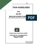 Erection Procedure for Boiler Structures