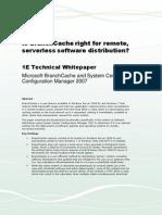 Ist BranchCache sinnvoll für die Softwareverteilung?