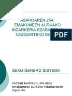 Sexo-genero Sistema, Euskaraz