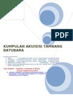 Akuisisi Tambang Batubara 12 Agustus 2008 - HR