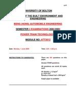 Trans Question Paper