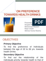 A Study on Preference Towards Health Drinks Ppt (1)