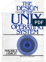 The Design of Unix Operating System by Maurice j Bach