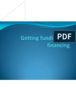 Getting Funding and Financing