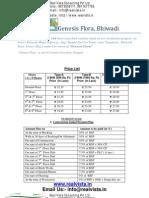 Genesis Flora Bhiwadi Price List