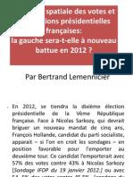 Lemennicier analyse spatiale des votes et les élections présidentielles 2012 (1)