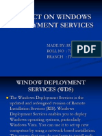 Project on Windows Deployment Services