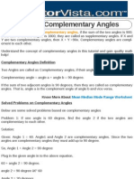 What Are Complementary Angles