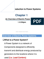 EIE 321 - Chapter 1 - An Overview of Electric Power Systems