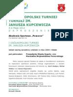 I Ogólnopolski Turniej Im. Janusza Kupcewicza