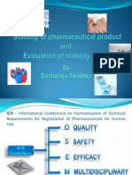 Stability of phrmaceutical product