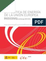 La política de energía de la UE (Es)/ EU energy policy (Spanish)/ EBren politika energetikoa (Es)
