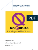 PROHIBIDO QUEJARSE raquel