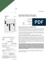 Quarterly National Accounts - Q4 2011