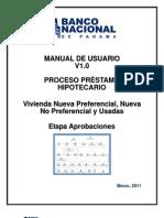 1- Manual de Usuario - Proceso Hipotecas - Etapa Aprobaciones v1 0