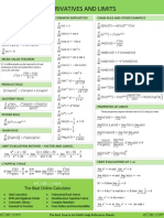 Calculus Derivatives