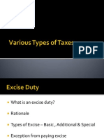 Various Types of Taxes