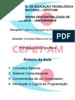 AULA 1 - LÓGICA DE PROGRAMAÇÃO