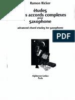 Ramon Ricker - Advanced Chord Etudes for Saxophone