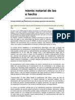 Reconocimiento Notarial de Las Uniones de Hecho