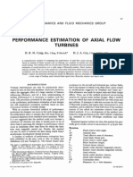 Performance Estimation of Axial Flow Turbines