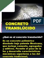 SEM IV - CONCRETO TRANSLÚCIDO
