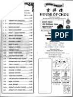House of Chou Menu - Sept 2009
