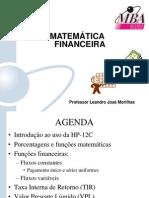 Matemática Financeira - Professor Leandro Morilhas - Gabarito