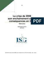 Memoire crise 2008 et consequences en 2012 modifié