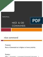 Nice  & Od Commands
