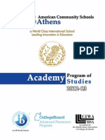 Academy Program of Studies 2012-2013