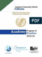 Academy Program of Studies 2012-2013