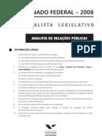 Prova Senado 2008(Analista Legislativo RP)
