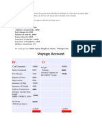 Voyage Accounting Example