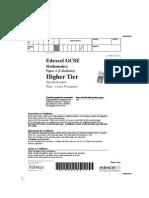 GCSE Maths Paper 4 (Calculator) - Higher Tier