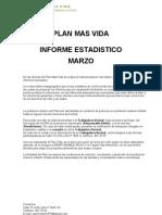 Plan Mas Vida Informe Estadistico Marzo 2012