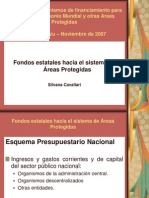 Fondos estatales hacia el sistema de Áreas Protegidas