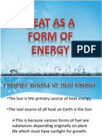 Heat as a Form of Energy