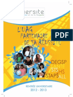L'UAG partenaire de ta réussite 2012-2013