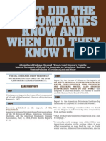 What Did The Oil Companies Know and When