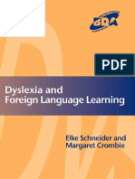 Dyslexia and Foreign Language Learning