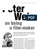 Peter Weir on Being a Filmmaker_Marianne Gray