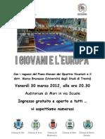 Locandina Europa Piano Giovani Quattro Vicariati