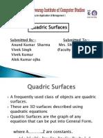 Alok Quadric Surfaces Final Ppt
