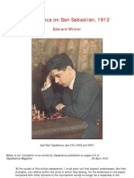 Edward Winter - Capablanca on San Sebastián, 1912