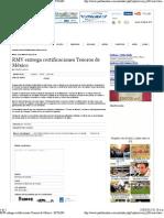 20-03-12 puebla online - RMV entrega certificaciones Tesoros de México