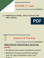 Peringkat Kimia, Selular dan Tisu Organisma PJM 3106