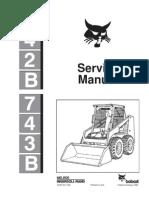 8530114-Bobcat 742b 743b Skid Steer Loader Service Repair Workshop Manual Instant Download