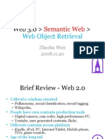 Web 3.0, Sematic Web, Object Level Data Retrieval